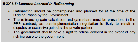 BOX 8.5: Lessons Learned in Refinancing<br />